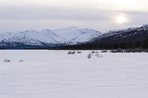 Frozen Fish Lake and Mount Granger