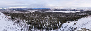 Panoramic view from Fish Lake Trail