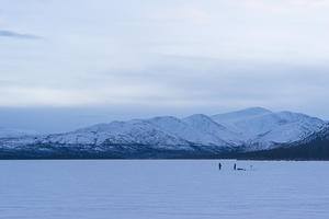 Ice fishing on Fish Lake