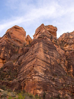 Climbers scale the Zion canyon walls
