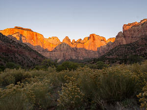 Zion sunrise - Towers of the Virgin
