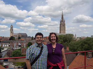 Chris and Anna on the roof of De Halve Maan