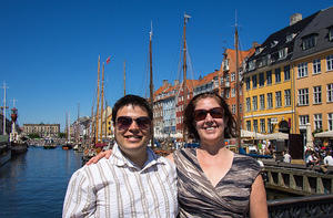 Chris and Anna on Nyhavnsbroen