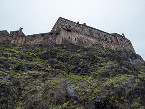 Edinburgh Castle's mount