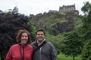 Anna and Chris enjoying Edinburgh