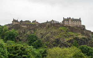 Edinburgh Castle view from the north
