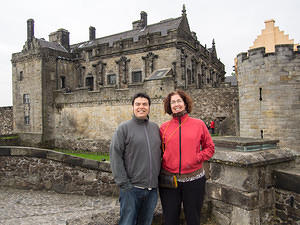 Chris and Anna at Stirling Castle