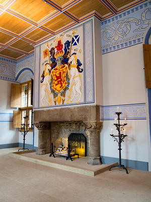 Restored interior at Stirling Castle