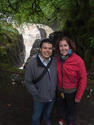 Chris and Anna at Black Linn Falls
