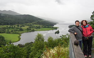 Chris and Anna at Loch Tummel