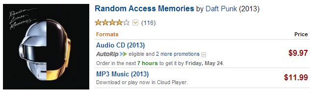 Daft Punk RAM on Amazon