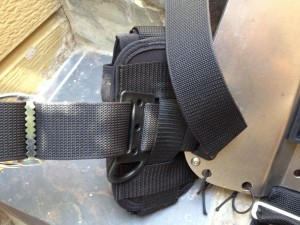 16LB QB Weight Pocket attached with belt D ring