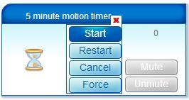 vera motion start timer