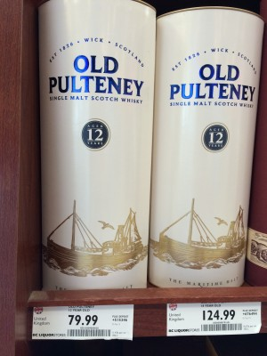 Old Pulteney Scotch 12 Year Canadian Pricing