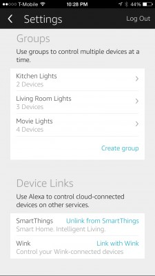 Amazon Alexa device groups